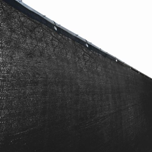 ALEKO 6x25Ft Black Fence Privacy Screen Outdoor Backyard Windscreen Mesh Fabric