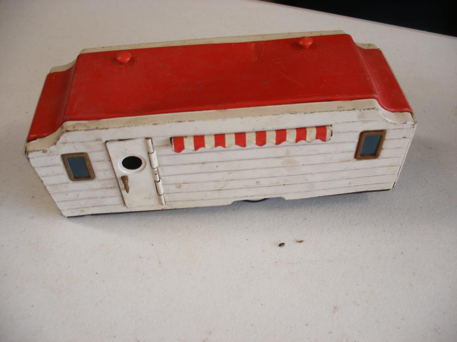 BANDAI TIN HOUSEVAN CAMPER TRAILER TOY RARE METAL VINTAGE HOUSE VAN