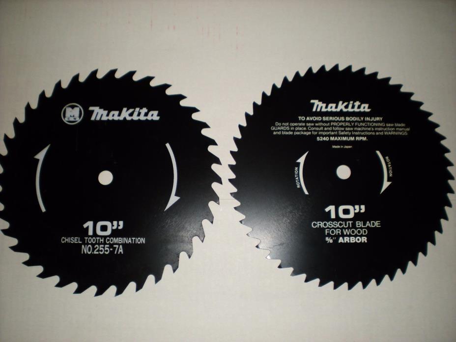 2 Makita Circular Saw Blades 10