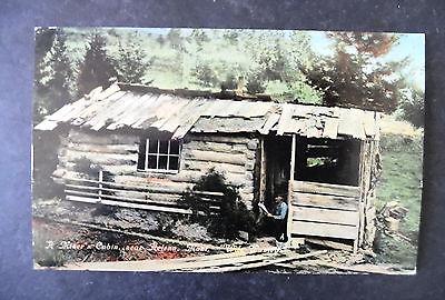 1910 Helena Montana Miner & His Cabin