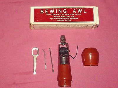 Vintage Richard's Sewing Awl Mod No. 1331 Leather Tool 1968 Never Used Complete