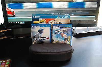 Sony Playstation Vita Slim WIFI w/ 8GB Memory Card USED and 2 Games