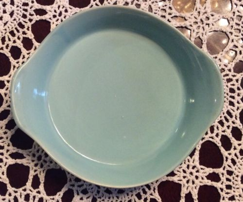 Vintage Pottery Small Oven Proof Single Casserole Dish USA Turquoise