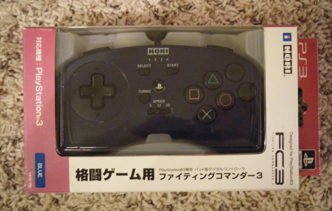 PS3 Hori controller fighter pad playstation (Brand New) - BLUE