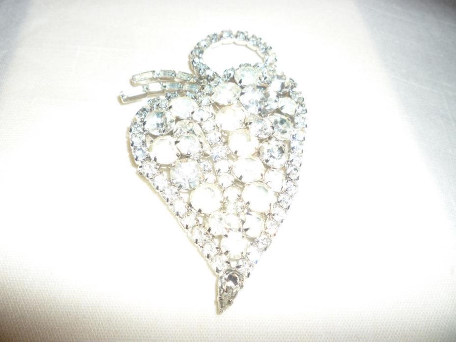 Huge crystal?rhinestone? brooch Juliana style