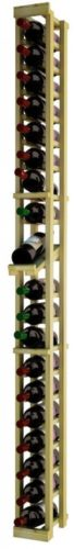 NA Traditional Series Brown Wood 1-column Individual Wine Rack With Display Row