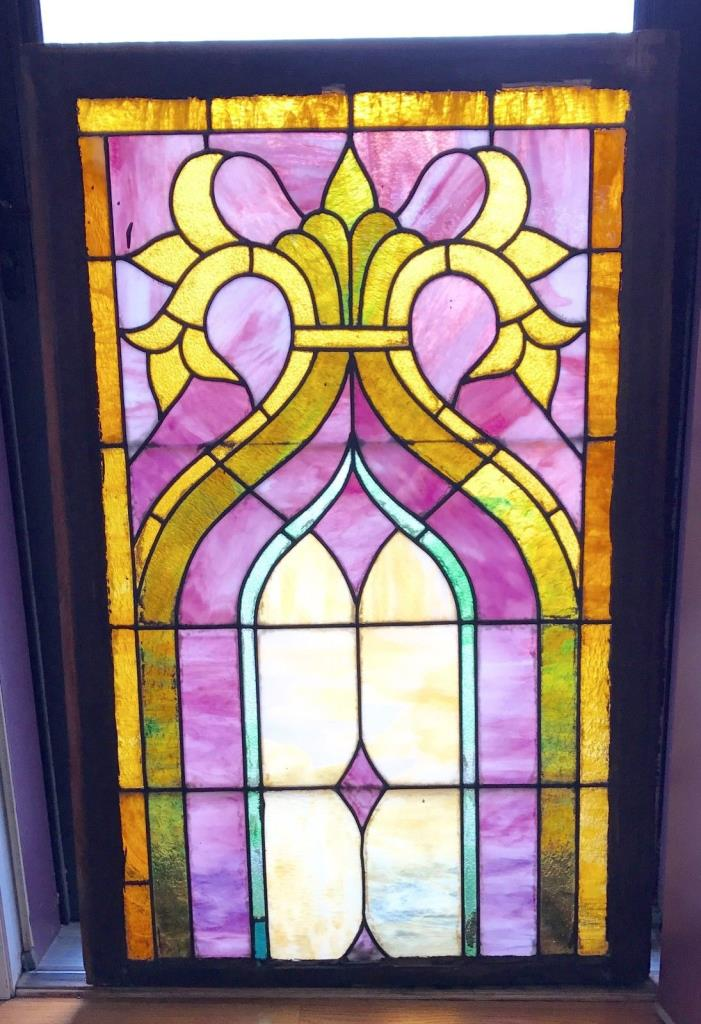 Antique Stained Glass Windows Pair For Sale Classifieds