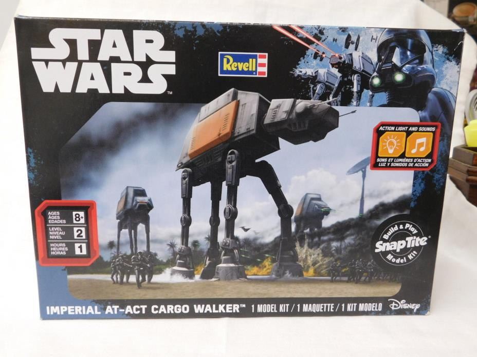 STAR WARS REVELL IMPERIAL AT-ACT CARGO WALKER SNAP TITE KIT NEW IN BOX SEALED