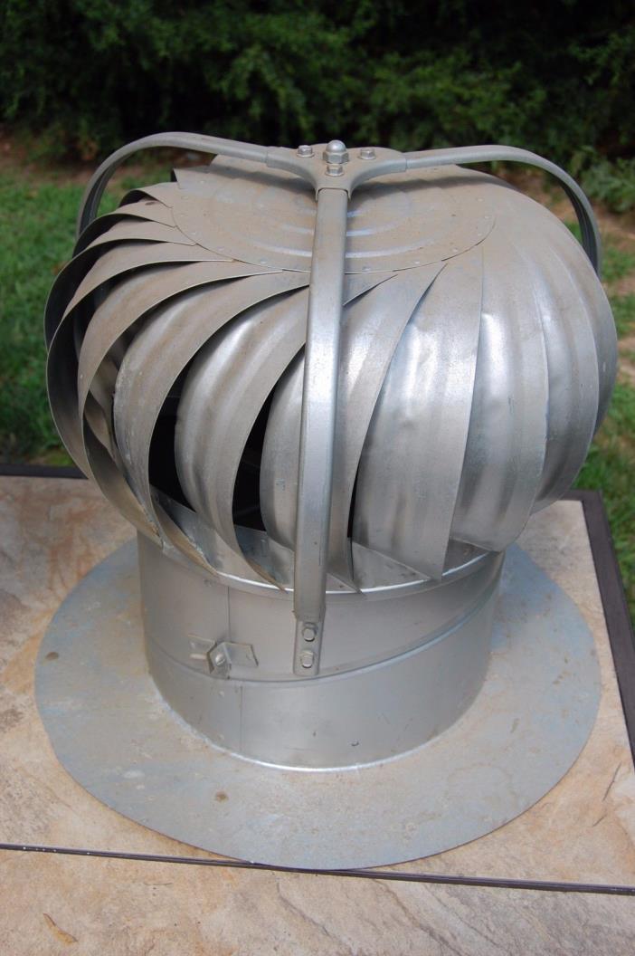 Vintage Wind Turbine Metal Roof Spinning Barn Vent Arvin USA