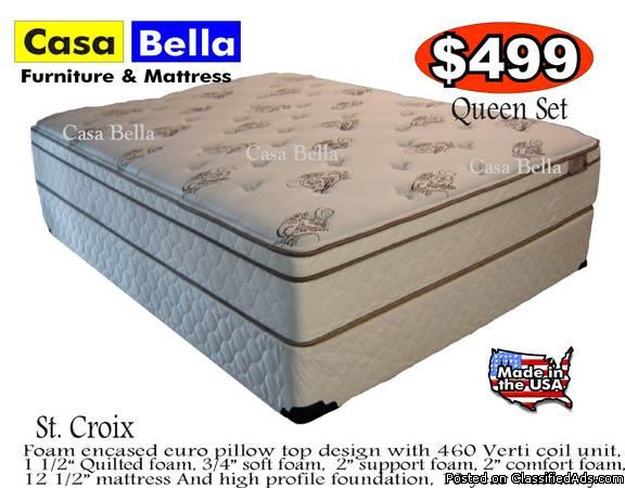 Mattress Sale! Queen Pillow Top Matress Set