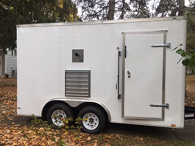 14 foot spray foam insulation trailer, spray foam insulation rig, Graco HPX2