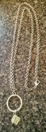 girl scout charm holder necklace