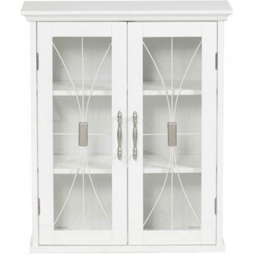 Napoleon Wall Cabinet White Storage Shelving Decorative Traditional Adjustable