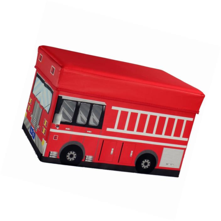 Fire Truck Storage Box and Toy Organizer