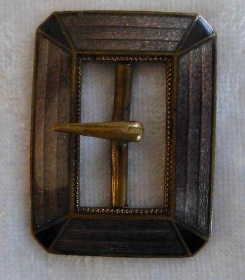 Vintage Czechoslovakia Enamel Buckle on Brass
