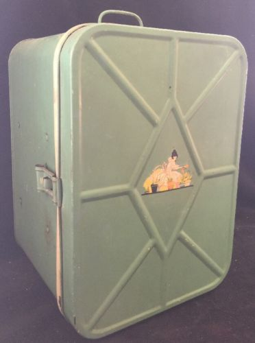 Antique Bread & Cake Cabinet, Tin Metal Bread Box & Pie Safe Decal Pretty!