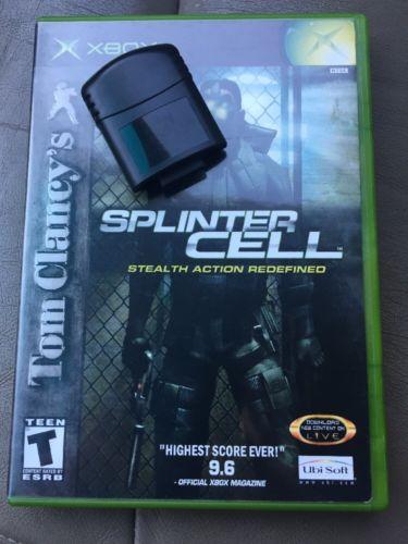 original xbox memory card with Splinter Cell