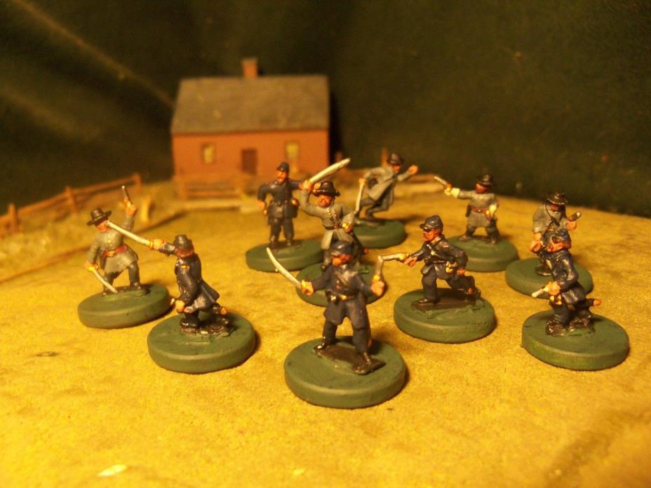 Union & Confederate Officers,  ACW, 15mm