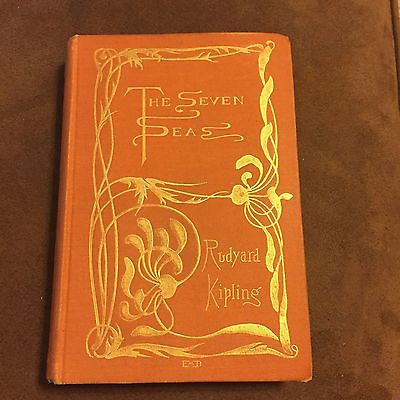 The Seven Seas Rudyard Kipling Book (Early First Edition)