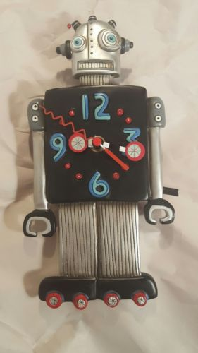 MICHELLE ALLEN Designs WALL CLOCK Decor Robot