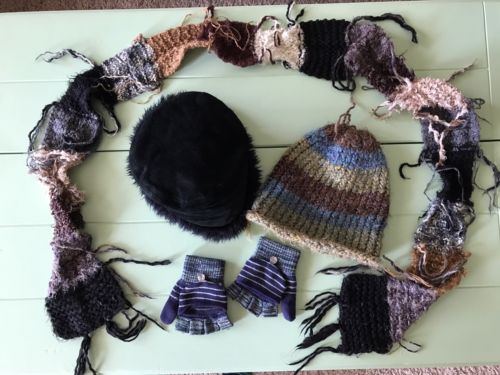 Winter Accessories Women Set Hats Gloves Scarf