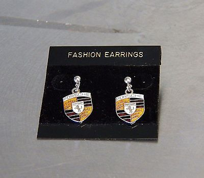 Porsche Earrings Post Style Cloisonne