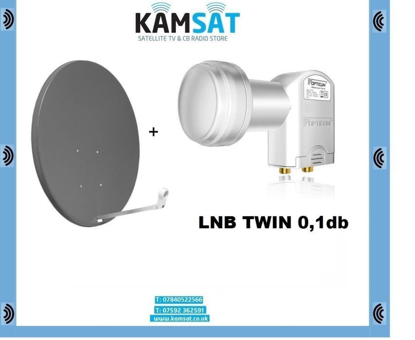 SATELLITE DISH ANTENNA HD 4K UHD 90 CM CORAB GRAPHITE LNB TWIN 0,1dB OPTICUM