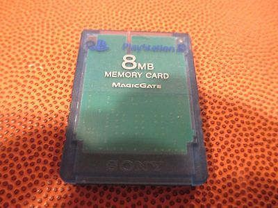 8 MB memory card Blue playstation 2