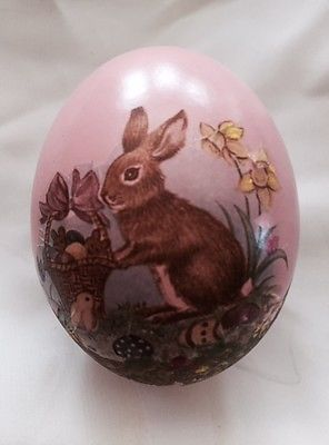 A DECORATED REAL DUCK EGG. PERFECT FOR AN EASTER BASKET OR DISPLAY.