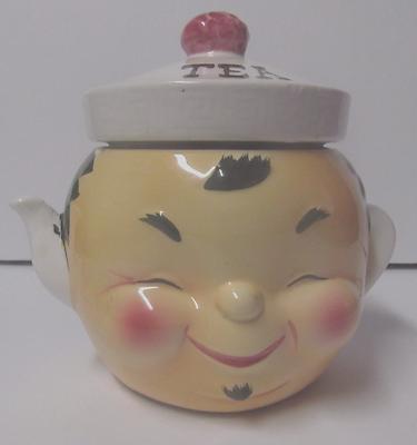 Rare lefton ESD tea canister teapot #21639