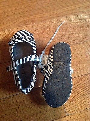 Toddler girls zebra animal print mary jane style flat shoe with bow