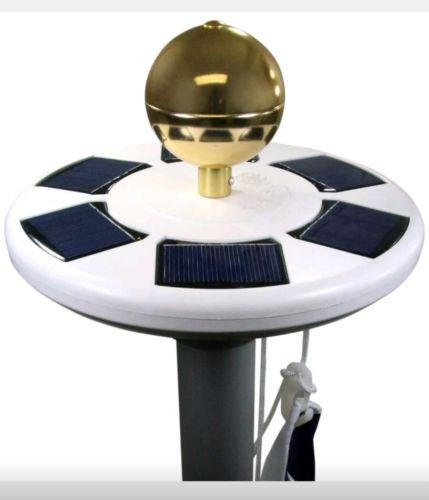 Solar Flag Pole Light By Deneve - Most Flag Coverage w/Flagbeam Technology