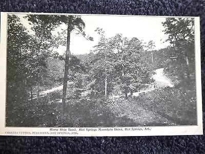 Early 1900's Horse Shoe Bend, Mountain Drive in Hot Springs AR Arkansas PC