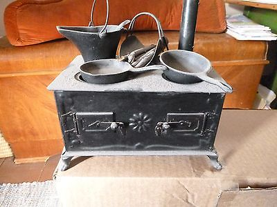antique miniature wood cook stove