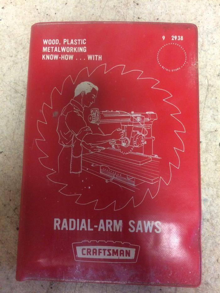 craftsman radial arm saw  book 9 2938