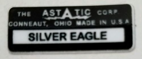 ASTATIC D-104  SILVER EAGLE MICROPHONE LABEL FOR RESTORATION.