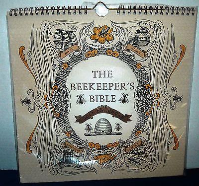 Large Beekeeper's Bible 2017 Wall Calendar Environmental Ecology Spiral Bound
