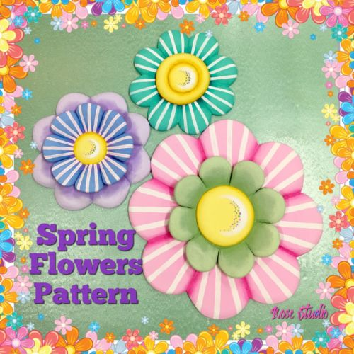 Spring Flowers DIY pattern/craft /styrofoam /Tole Painting/ Child's Wall Hanging