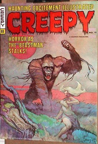 FRAZETTA Warren 1970s CREEPY 11 Monster POSTER ART