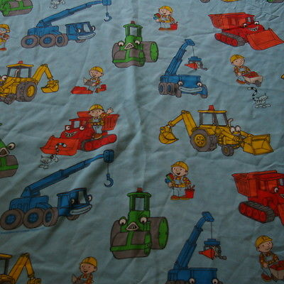 Vintage Bob the Builder Twin Flat Bed Sheet or Fabric 2001