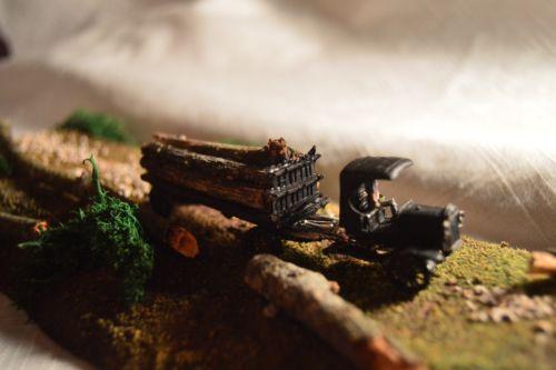 Ho Scale Diorama Custom Mack Logging Truck Scene L@@k