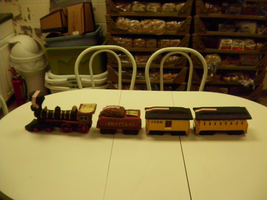 z5q Complete Set Vintage McCormick Commemorative Train Decanter Engine Coal Mail