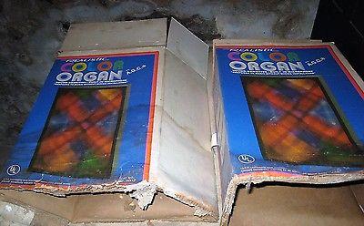 Pair Two VINTAGE - Realistic Radio Shack COLOR ORGAN  42-3012