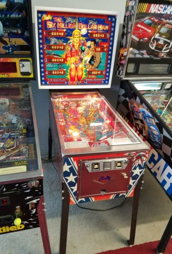 Rare Bally Six Million Dollar Man Pinball! Beautiful!