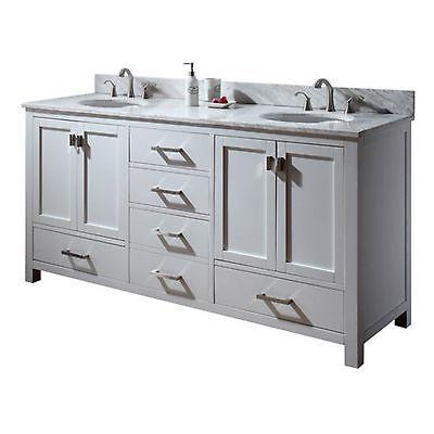 Avanity Modero 72-in. White Double Bathroom Vanity