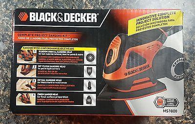 Black & Decker MS1000 Cyclone 1.4 Amp Orbital 4-in-1 Multi Sander Complete NIB