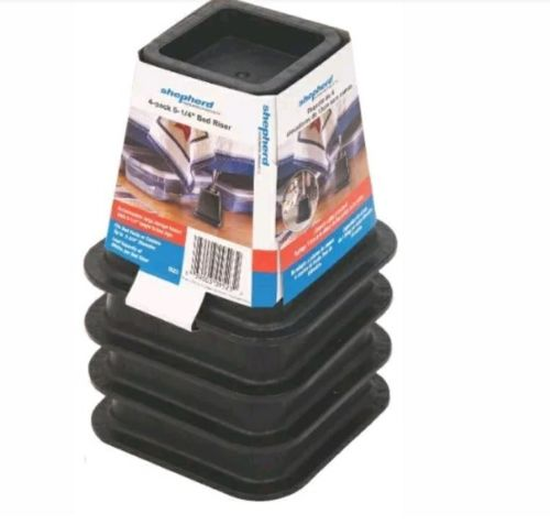 shepherd 4 pack bed riser 5-1/4 black