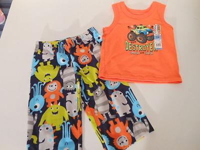 Boys pajamas Monster Trucks Pjs Boys clothes Baby boys pajamas Pj Bottoms 24 mos