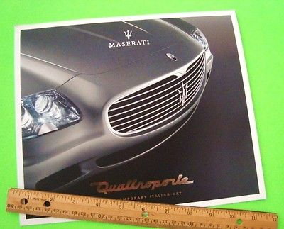 wow 2003 MASERATI QUATTROPORTE PRESS KIT - Brochure + CD OF PHOTOS w/ SPYDER etc