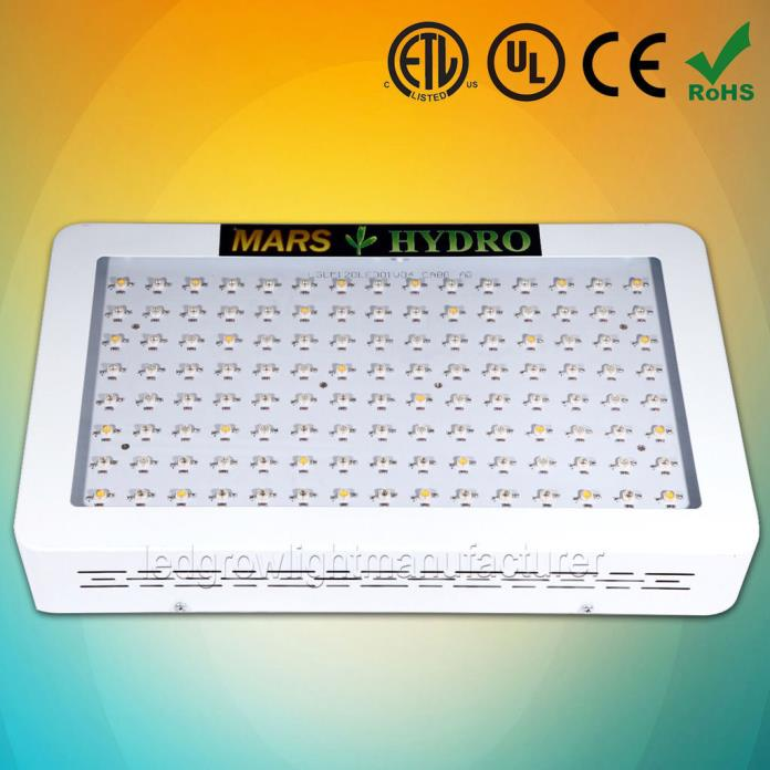 Mars 600W LED Grow Light Panel Lamp Hydro Full Spectrum Indoor Plant Veg Flower